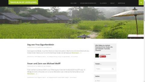 Projekt Travelblog by LeezelJones by Manthey Webdesign