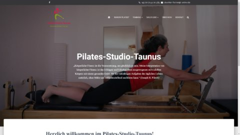 Projekt Pilates-Studio-Taunus by Manthey Webdesign