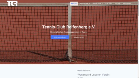 Projekt Tennisclub-Reifenberg by Manthey Webdesign